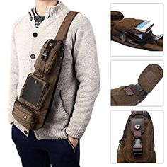 Fashion Vintage Men Crossbody Bags Chest Canvas Water Proof Military Handbags DM