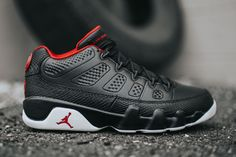 "Air Jordan 9 Retro Low ""Black, White & Gym Red"" (Detailed Pics & Release Info) - EU Kicks: Sneaker Magazine"