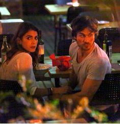 Nikki and Ian Somerhalder at meal time in Barcelona, Spain (6/5/15)