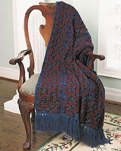 Crossed Panel Crochet Afghan