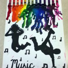 Music crayon art!<3
