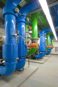 Pipes in the Silicon Valley Data Center built by Digital Realty Trust, a builder of custom data centers.