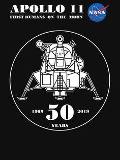'Apollo 11 - Anniversary' T-Shirt by Samuel Sheats - Whirlpool Galaxy-Andromeda Galaxy-Black Holes Nasa Space Center, Nasa Space Station, Apollo Space Program, Nasa Space Program, Nasa Photos, Nasa Images, Nasa Planets, Apollo 11 Moon Landing, Apollo Missions