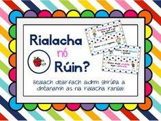 Rialacha nó Rúin Ranga (as Gaeilge) // Classroom Rules or