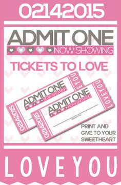 Valentine's Day is all about showing your love and that doesn't mean that you have to spend a bunch of money! Use these free printables to create your own FREE Tickets to Love Valentine Coupon Book! Fill in the blanks to gift your sweetie a foot rub, breakfast in bed or even a chance to escape dinner duty one night.