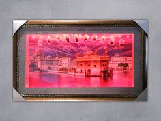 Golden Temple LED Painting