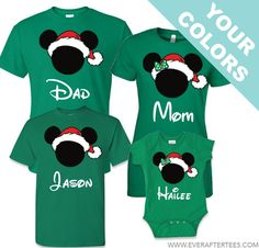 Disney Family Santa Mickey T-shirts