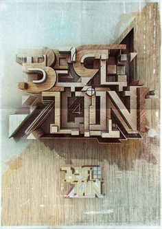 modern Wooden letters