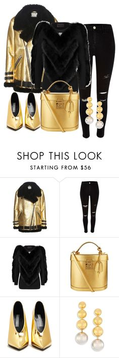 """""""Gold!"""" by luisa100 on Polyvore featuring Mode, Acne Studios, River Island, Mark Cross, STELLA McCARTNEY und Elizabeth and James"""
