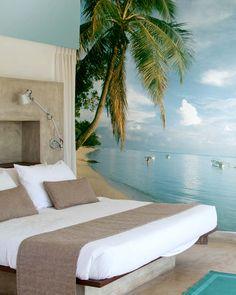 Beach Wall Murals, Beach Wall Decor, Beach House Decor, Ocean Mural, Home Decor, Bedroom Murals, Bedroom Themes, Bedroom Decor, Master Bedroom