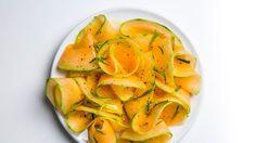 Savory Shaved Cantaloupe Salad Recipe | www.bonappetit.com