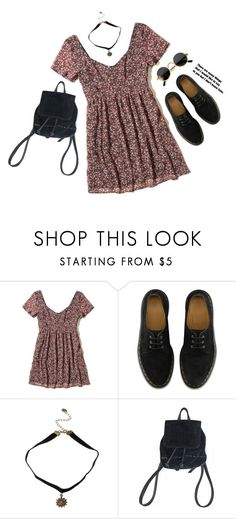 """""""1995"""" by alisa1987 ❤ liked on Polyvore featuring Hollister Co., Dr. Martens and 90s"""