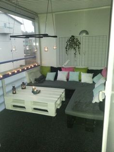 Balcony pallets lounge | 1001 Pallets