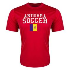 Andorra Soccer Youth T-Shirt (Red)