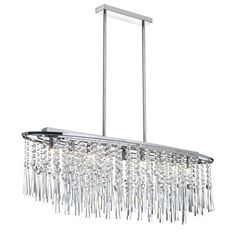 Fixture for above dining room table  Josephine Oval Chandelier | Dainolite at Lightology