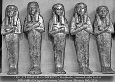 """1336-1327 900o PHARAOHS OF EGYPT – Shabti collection found in the Tomb of TUTANKHAMUN. Egyptian Museum, Cairo ©Hans Ollermann 2004-2016."" ^**^"