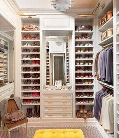 Shoes and Clothes Closet Dressing Room Quarto Decoração Home Interior Design D…