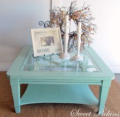 awesome re-purposed coffee table