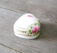 Antique Porcelain Trinket Boxes   Antique Nippon Trinket Box Porcelain Heart by MomsantiquesNthings, $22 ...