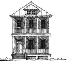 Allison Ramsey Architects | Floorplan for The Riley - 2076 square foot house plan # C0350