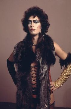 "Tim Curry and Frank N Furter in Rocky Horror Picture Show - ""Give yourself over to absolute pleasure."""