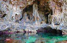Niuean ancestor kings' private bathing cave. | Makefu Niue Island [OC][4600x2990]   landscape Nature Photos