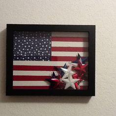 Freedom shadow box I just made.