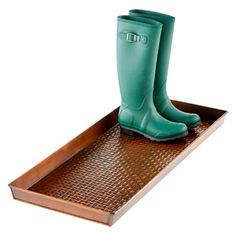 Long Boot Tray....fill it with black river rocks and it would be awesome.