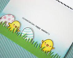 Easter window card - inside | by yainea