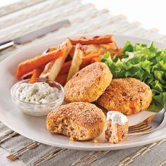 Confort Food, Tempeh, Edamame, Salmon Burgers, Good Food, Vegetarian, Chicken, Meat, Dinner