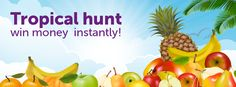 Peachy tropical hunt - win money instantly! Pick fruits and try your luck at finding hidden rewards! Total prize pool is £1650!