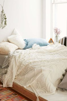 This fuzzy chenille bedding—$129 | 19 Insanely Cozy Accessories That Will Make You Never Want To Leave Your Bed