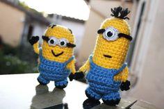 SET crocheted Minions Despicable Me Amigurumi doll by BramaCrochet, €19.90