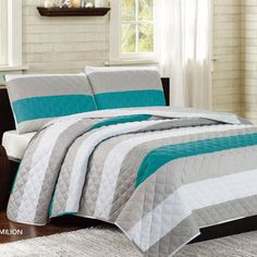 Vermiliton 3 Piece Cotton Quilt Set
