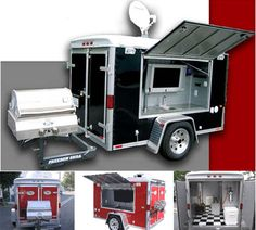 The Ultimate Tailgate Trailer! TV and all! This trailer is CRAZY COOL!  #UltimateTailgate #Fanatics