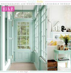 alaina's favorite color. // via Sunday's Bright Links No. 105: Mint Magic