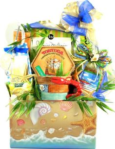 Beachfront Gourmet  Summer Gourmet Gift Basket of Key Lime Cookies and More -- You can find more details by visiting the affiliate link Amazon.com.