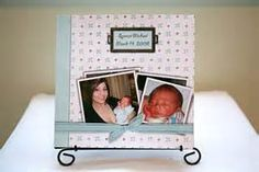 The baby's dad wanted to use these scrapbook elements with a color palette of light blues, greens, and yellows. The book features images of the newborn at the hospital and his first day home. Published through Blurb. The Book, Blues, Card Making, Dads, Palette, Frame, Scrapbooking, Color, Picture Frame