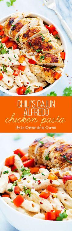 Chili's Cajun Alfredo Chicken Pasta