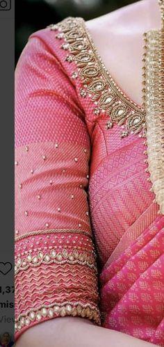New Saree Blouse Designs, Cutwork Blouse Designs, Simple Blouse Designs, Stylish Blouse Design, Bridal Blouse Designs, Simple Designs, Traditional Blouse Designs, Maggam Work Designs, Hand Work Blouse Design