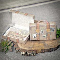 Model de invitatie geamantan vintage 39339