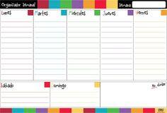 organizador semanal - Buscar con Google