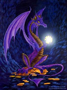 Dragon discovers the sparkle of a diamond outweighs his interest in gold coins.