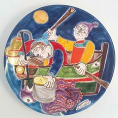 Italian Pottery, Palermo, Watercolors, Plates, Tableware, Licence Plates, Water Colors, Dishes, Dinnerware