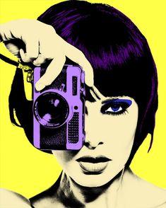 yellow and purple pop art classic painting style pop art art  beautiful