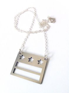 DC flag necklace by bLuGrnDesign on Etsy, $48.00