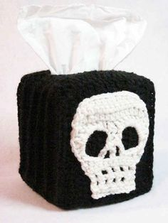 Hide your floral tissue box with this crochet cover.
