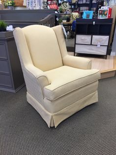 Best Chairs - Natasha Swivel Glider in Lemon Zest Stock# 246658