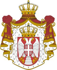 Zastava i grb Srbije - Serbian flag & coat of arms: Grb Srbije - Srpski grb - Simboli Srbije - Coat of arms of Serbia Serbian Flag, National Animal, Thinking Day, Family Crest, Ottoman Empire, Crests, My Heritage, Coat Of Arms, Luxembourg