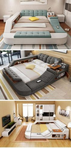 Home Discover If I had this bed Id just stay there until my neighbor calls the police because of the funny smell coming from my apartment. Bedroom Bed Design, Home Room Design, Interior Design Living Room, Home Decor Furniture, Bedroom Furniture, Furniture Design, Bedroom Decor, Luxury Furniture, Furniture Makeover